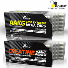 AAKG + Creatine Magna Power 30-180Caps Muscle Growth Pump Pre-Workout Supplement