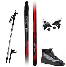 NEW ALPINA ENDURE XC cross country 75mm SKIS & BINDINGS & BOOTS & POLES - 200cm