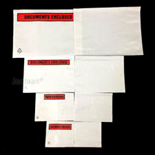 DOCUMENTS ENCLOSED WALLETS ENVELOPES PRINTED PLAIN POSTAL POCKET POUCHES SLIPS