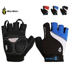 Bicycle Cycling Bike Motorcycle Half Finger Gel Silicone Fingerless Gloves M-XL