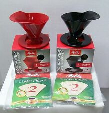 Melitta RSJ Pour-Over Single Cup Coffee Brewer RED or Black FREE Shipping To USA