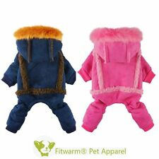 Multi Color Winter Warm Dog Jumpsuit Pet Clothes Hooded Coat Apparel XS S M L