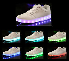 Hot! FASHION SIMULATION LED LEATHER SHOE 7 Light Colors In 1