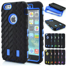 Black Tyre Tread Soft Rubber Hard Combo Hybrid High Impact Case Shell For iPhone
