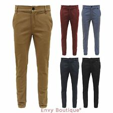 New Mens D-Struct Designer Skinny Fit Straight Leg Chinos Pants Jeans Trousers