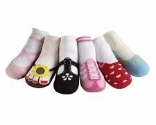 JazzyToes Jazzy Toes Baby Girls Socks 6 Pair Variety Gift Box Set Non-skid soles