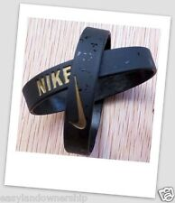 Nike baller band silicone bracelet wristband BLACK / GOLD ELITE PRE-HOLIDAY SALE