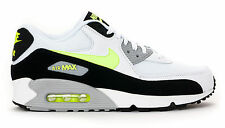 Nike Air Max 90 Essential Running Shoes Mens - White/Volt-Black-Wolf Grey - 5373
