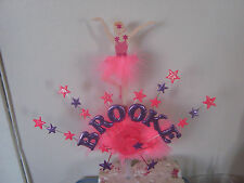 BALLERINA CAKE TOPPER PICK YOUR OWN COLOURS AND DETAILS