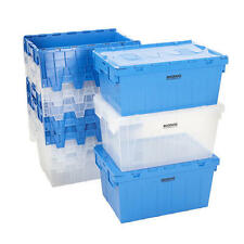 Storage Containers Tote Boxes Attached Lid Storage Box Stackable 3 Sizes