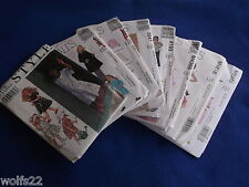 C McCall's ~ All Pattern are Sizes ~ 3-6 (3,4,5,6) U-PICK ~ 11+ Listed ~ 9635