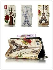 Big Ben Tower Building Magnet Flip Leather Hard Case Cover Stand For Cell Phones
