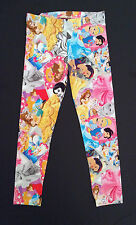 Girls Disney PRINCESS Leggings VARIOUS AGES features SNOW WHITE CINDERELLA BELLE