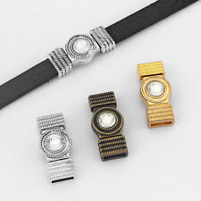 3/10 Sets 10x2mm Rhinestone Magnetic Clasp For 5mm 10mm Flat Leather Cord