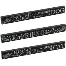 PET DOG CAT PLAQUE SIGN GIFT SET MANTEL WALL POETIC MESSAGE NEW WOODEN BRICK