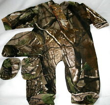 REALTREE APG CAMOUFLAGE BABY SLEEPER, HAT, BOOTIES, INFANT CAMO CLOTHES, CREEPER