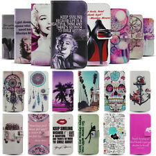 Marilyn Monroe Sugar Skull Stand Flip Wallet PU Leather Case For Apple & Samsung