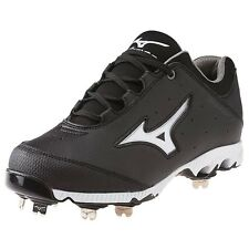 Mizuno 9-Spike Swift 3 Switch Black / White Metal Fastpitch Softball Cleat