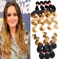 NewBrazilian Virgin Hair Body Wave Ombre Hair Extensions Hair Products 1B27# Hot