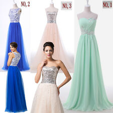 FREE SHIP~Sexy Long Ladies Formal Bridesmaids Banquet Dresses Ballgown Dress NEW
