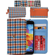Kroo Ladie-s Houndstooth Pattern Fad Fashion Purse Case ML|N fits Mobile Cell