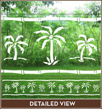 Palm Tree Border Adhesive-Free Etched/Stained Glass Window Film Cling Horiz Vert