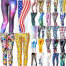 Fashion Sexy Women Digital Graphic Printed Skinny Leggings Pants Trousers Funky