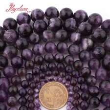 "6-12mm Natural Smooth Round Dream Amethyst Gemstone Spacer Loose Beads 15""/ Lot"