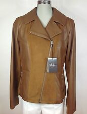 Cole Haan  NWT Brown lamb skin and suede combination, size M