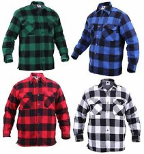 Men's Extra Heavyweight Sherpa-Lined Buffalo Plaid Warm Cotton Flannel Shirt