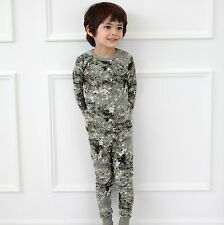 Tory Bam Kids Toddler Boys Thermal Underwear Set Size 2-10 Years Military
