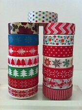 CHRISTMAS WASHI TAPE: CHOOSE FROM 16 DIFFERENT PATTERNS- BRAND NEW