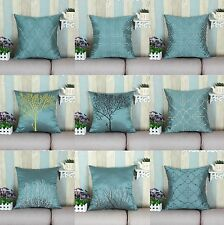 "18"" X 18"" Teal Embroidery Various Design Cushion Covers Pillows Shell Home Decor"