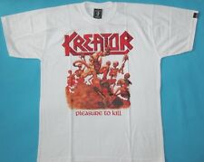 Kreator - Pleasure to Kill T-shirt  White NEW