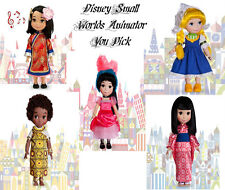 Disney Store It's A Small World Animators Collection Singing Doll New~` YOU PICK
