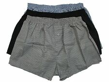 MENS BIG SIZE BOXER SHORTS KAM PACK OF 3 IN BLACK-GREY-BLUE COLOURS SIZE 2XL-3XL