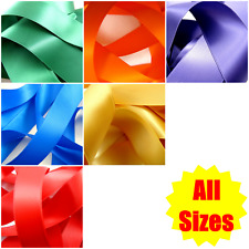 Double Sided Satin Ribbon - Many Colours - Many Sizes - Free UK 1st Class P&P