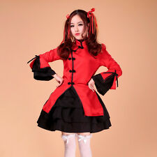 Maid dress cosplay chinese style maid costume sexy lolita apron dress set