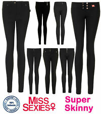 WOMENS GIRLS MISS SEXIES SCHOOL TROUSERS SKINNY HIPSTER HIGH WAISTED TROUSER