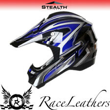 STEALTH HD203 EDGE BLUE MX MOTOCROSS ROAD LEGAL OFF ROAD MOTORCYCLE HELMET CHEAP
