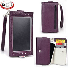 Kroo Clutch Wristlet Wallet with Screen for LG G2