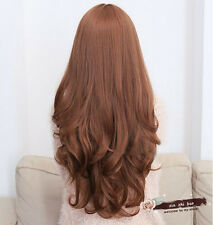 Cosplay Party Daily Women Girls Stylish Natural Wavy Long Hair Full Wig 3 Colors