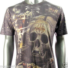 Minute Mirth T-Shirt Sz M L XL Tattoo Magic Skull Grim Reaper bmx Rock N21 D1