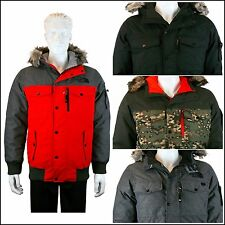 [2014-2015] The North Face Men's Gotham Jacket Winter Black/Red/Grey/Camo coat
