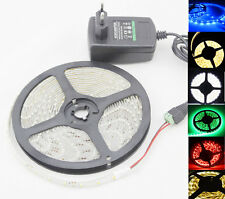 3528 Waterproof 5M 300SMD LED Flexible Strip Light Connecter & 2A Power supply
