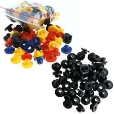 100 PCS Black/Colorful Tattoo Rubber Grommets Nipples for Tattoo Machine Needles
