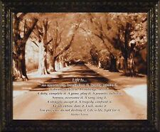 """""""LIFE IS..."""" by John Jones 20x24 FRAMED PRINT Mother Teresa Quote Trees Road"""