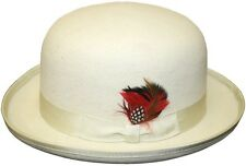 Men's Derby Hat - Off White, Wool Felt, High quality, made to last , look great