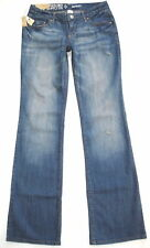 New! MOSSIMO Supply Co. Distressed Stretch BOOTCUT Blue Jeans Fit 6 Straight Hip
