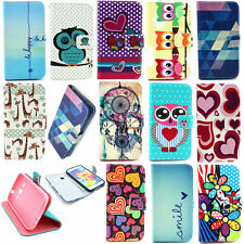 Cute Cartoon Owl Giraffe PU Leather Wallet Flip Case Cover For Various Mobile